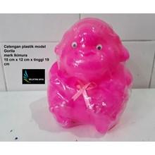 Gorilla plastic piggy bank model Ikimura brand