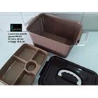 Lunch box kotak makan anyaman plastik gisela WKNY 3