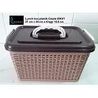 Lunch box kotak makan anyaman plastik gisela WKNY 1