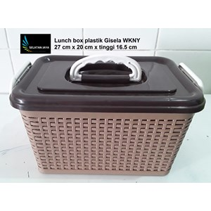 Dari Lunch box kotak makan anyaman plastik gisela WKNY 0
