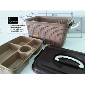 Dari Lunch box kotak makan anyaman plastik gisela WKNY 1