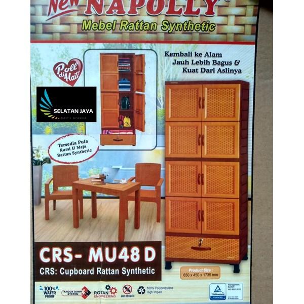 Lemari plastik rotan Napolly kode CRS - MU48D