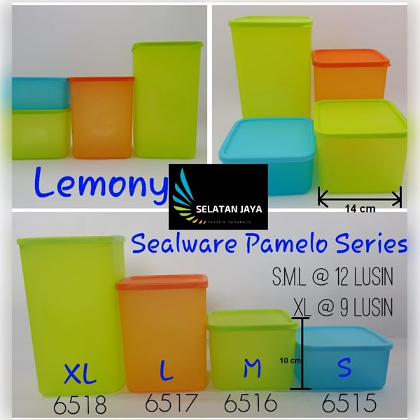 Plastic jar for pamelo sealware with Lemony brand