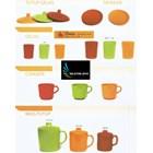 Unica branded melamine plastic mug cup 1