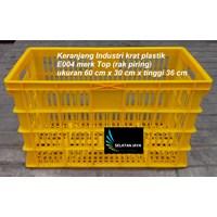 Keranjang plastik industri krat tempat piring E004 TOP