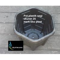 jual Pot plastik segi 25 merk eko harga murah