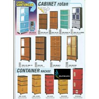 jual lemari plastik cabinet rotan container nacase merk Napoli
