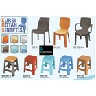 Napolly synthetic rattan plastic chairs 2