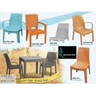 Napolly synthetic rattan plastic chairs 1