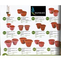 Pot plastik untuk tanaman bibit bunga merk lucky star