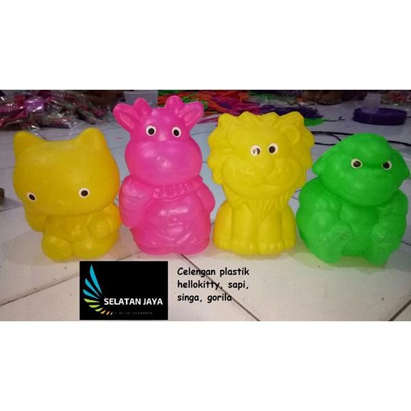 Celengan mainan plastik sapi singa gorila ayam harga murah