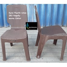 ing plastic rattan chairs 2R3 brown brand Napolly.