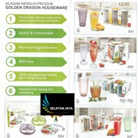 Gelas plastik melamin Golden dragon