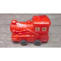 Celengan Plastik Bentuk Kereta Api Merk Ikimura
