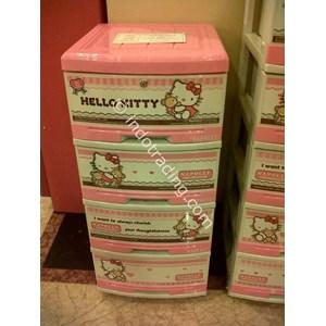 Lemari Plastik Hello Kitty Merk Napolly