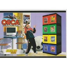 Lemari plastik dua pintu merk ORCA susun 3 dan susun 4