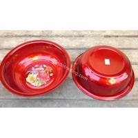 Distributor Waskom Crystal 30 Cm warna merah 3
