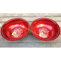 Waskom Crystal 30 Cm warna merah