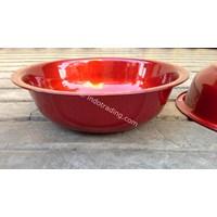 Jual Waskom Crystal 30 Cm warna merah 2