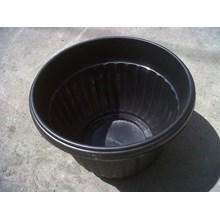 Plastic flower pot 30 cm color black