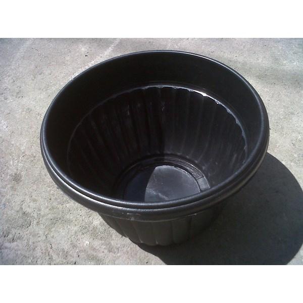 Pot bunga plastik 30 cm warna hitam