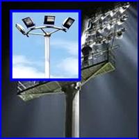 Stadium Spotlight Poles