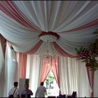 Tenda Dekorasi Putih Pink