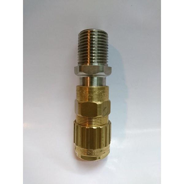 Cable Gland Hawke Brass Nickel Plated 501/453/RAC/ 1/2 NPT(Os O)