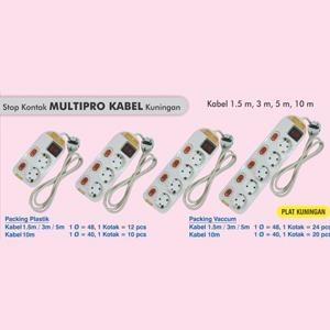 Stop kontak multi fungsi kabel lubang 4