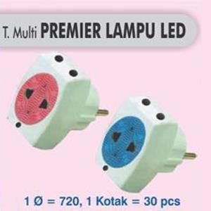 steker tee multi warna lampu led