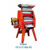 Mesin Pengupas Biji-Bijian Kopi Basah Pulper Intan Hsl-P2 Kapasitas 1460 Kg/Jam 2 Silinder