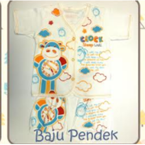 Baju Bayi Pendek Tamashii Clock Sleep Well