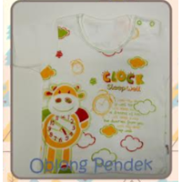 Baju Bayi Kaos Oblong Pendek Tamashii Clock Sleep Well