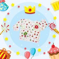 Baju Bayi motif Happy Island
