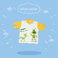 Baju Bayi seri kemeja Robotic