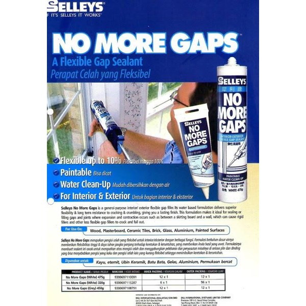 Sealent No More Gaps ( Lem Bangunan )