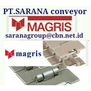 MAGRIS TABLETOP CHAIN PT SARANA CONVEYOR MAGRIS THERMOPLASTIC & STEEL JAKARTA