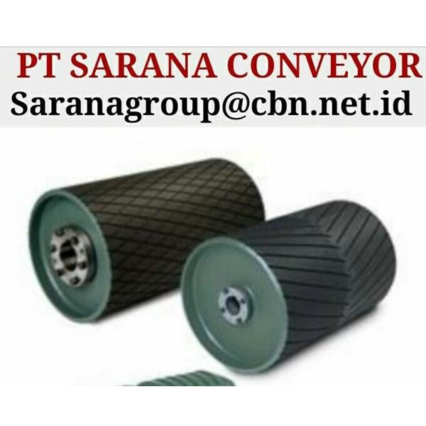 DRUM PULLEY RUBBER HEAVY DUTY PT SARANA CONVEYOR