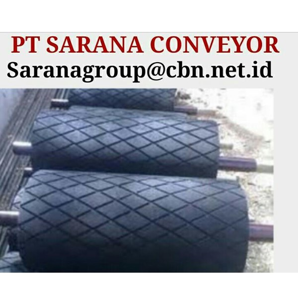 DRUM PULLEY RUBBER HEAVY DUTY PT SARANA CONVEYORS