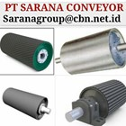 DRUM PULLEY RUBBER HEAVY DUTY PT SARANA CONVEYORS GRAFITY 1
