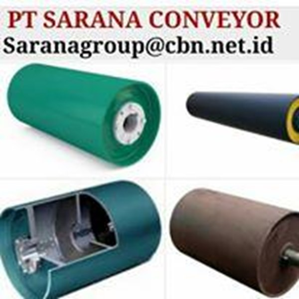 DRUM PULLEY RUBBER HEAVY DUTY PT SARANA CONVEYORS GRAFITY