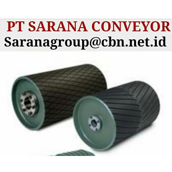 DRUM PULLEY RUBBER HEAVY DUTY PT SARANA CONVEYORS PULLEY
