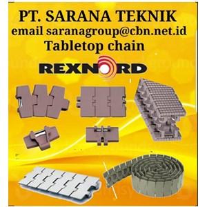 PT SARANA TEKNIK SELL JUAL REXNORD TABLETOP CHAIN MAPTOP