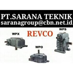 PT SARANA GEAR MOTOR REVCO WORM GEAR REDUCER TYPE WPA