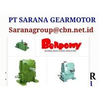 WORM GEAR BELLPONY SPEED REDUCER TYPE PA PT SARANA GEAR MOTOR 1
