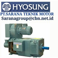 DC HYOSUNG ELECTRIC MOTOR MADE IN KOREA PT SARANA TEKNIK