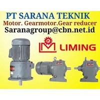 LIMING AC MOTOR PT SARANA TEKNIK shaft mounted speed gear reducer