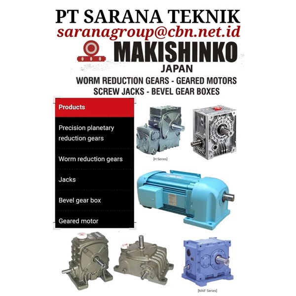 MAKISHINKO BEVEL GEAR SCREW JACKS PT SARANA TEKNIK MOTOR