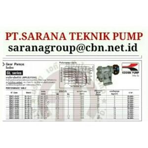 Dari KOSHIN GEAR PUMP SERIES GB GL GC PT SARANA PUMP KOSHIN GEAR PUMP FOR OIL 2