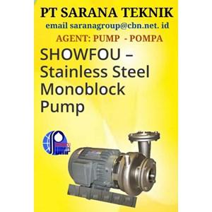 SHOWFOU STAINLESS STEEL MONOBLOCK PUMP POMPA